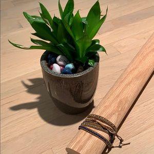 Chan Luu wrap bracelet blue/gold/bronze